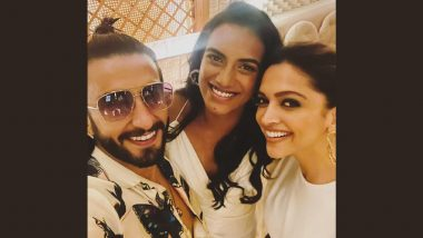 Ranveer Singh, Deepika Padukone Have a 'Smashing Time' With PV Sindhu As They Celebrate Her Tokyo Olympics Win in Town (View Pic)