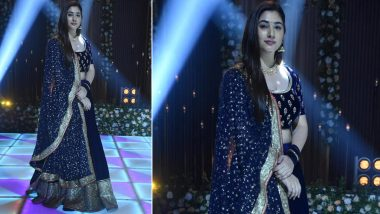 Bade Achhe Lagte Hain 2: Disha Parmar Excited About Her Elegant Blue Lehenga Look Which She Wore in Show's Sangeet Sequence