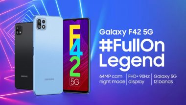 Samsung Galaxy F42 5G India Launch Set for September 29, 2021