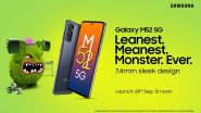 Samsung Galaxy M52 5G To Be Launched on September 28, 2021; Check Expected Prices & Other Details Here