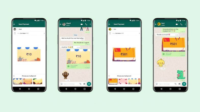 Funzionalità di pagamento in background di WhatsApp