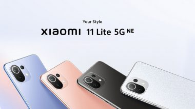 Xiaomi 11 Lite 5G NE To Launch in India on September 29, 2021
