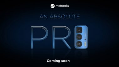 Motorola Edge 20 Pro Smartphone Teased; Likely To Be Launched in India on October 1, 2021
