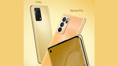 Oppo Reno6 Pro 5G Diwali Edition, Oppo F19s Smartphones To Be Launched in India Tomorrow