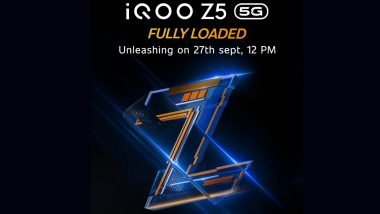 iQOO Z5 5G To Be Launched in India on September 27, 2021