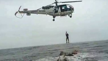 Indian Coast Guard Rescues Seven Fishermen Off Coast of Diu in Inclement Weather