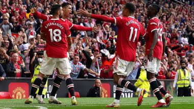 Cristiano Ronaldo Reacts After Scoring Brace on Manchester United Return Against Newcastle in Premier League 2021–22 (Check Post)
