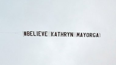 Cristiano Ronaldo Rape Allegations: 'Believe Kathryn Mayorga' Banner Spotted Over Old Trafford During Portuguese Star's Return for Manchester United in Premier League 2021–22 (See Picture)