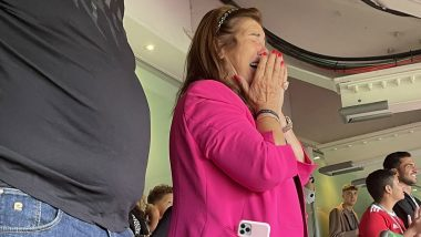 Cristiano Ronaldo's Mother Reacts Emotionally After Portuguese Star Scores Brace on Manchester United Return Against Newcastle in Premier League 2021–22 (See Picture)