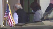 PM Narendra Modi Arrives at White House For Bilateral Meeting With US President Joe Biden (Watch Video)
