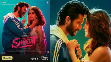 Shiddat's New Poster Out! Sunny Kaushal and Radhika Madan's Vibrant Energy Steals the Show (Watch Video)