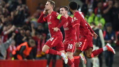 Liverpool 3-2 AC Milan, UEFA Champions League 2021-22: Jordan Henderson Helps Reds Edge Five-Goal Thriller (Watch Goal Video Highlights)