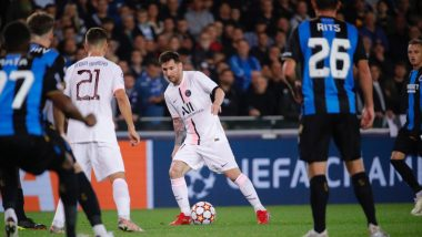 Club Brugge 1-1 PSG, UEFA Champions League 2021-22: Lionel Messi-Led Parisians Frustrated By Belgian Champions (Watch Goal Video Highlights)