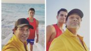 Sachin Tendulkar Chills With Son Arjun at the Beach, Posts Pictures With a Witty Caption