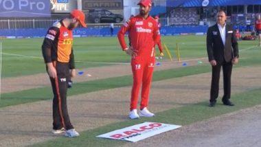 SRH vs PBKS, IPL 2021 Toss Report & Playing XI: Sunrisers Hyderabad Opt to Bowl As Chris Gayle Returns for Punjab Kings