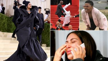 Rihanna Met Gala 2021 Look Inspires Funny Memes! Twitterati React As Songstress Appears All Covered-Up in Balenciaga by Demna Gvasalia (View Photos)