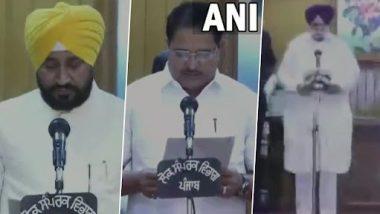 Charanjit Singh Channi Sworn-In As New Punjab CM; Sukhjinder Singh Randhawa, OP Soni Take Oath As Deputy CMs
