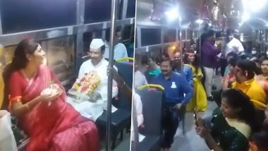 TSRTC MD Sajjanar Travels in Bus With Idol for Immersion