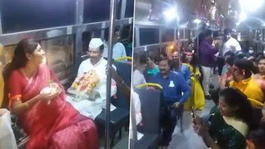 Ganpati Visarjan 2021: TSRTC MD VC Sajjanar Travels in Bus With Ganesh Idol for Immersion (Watch Video)