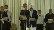Punjab Cabinet Expansion: Congress MLAs Brahm Mohindra and Manpreet Singh Badal Take Oath as Cabinet Ministers (See Pics)