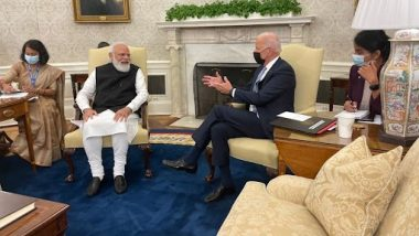Narendra Modi-Joe Biden Bilateral Meeting: Gandhiji's 'Trusteeship' Concept Would Be Important for Our Planet in Times To Come, Says Indian PM