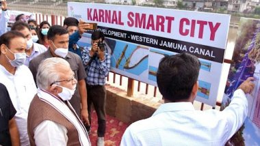 Haryana CM Manohar Lal Khattar Reviews Developmental Works at Karnal, Directs Officials To Expedite Construction Work at Various Sites
