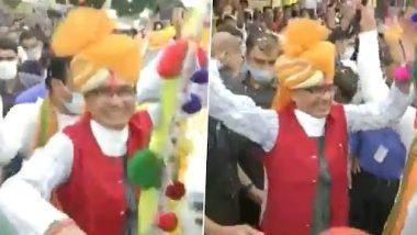 Jandarshan Yatra in Madhya Pradesh: CM Shivraj Singh Chouhan Seen Dancing With Locals in Khargone (Watch Video)