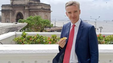 Alex Ellis, British High Commissioner to India, Relishes Vada Pav in Mumbai; Shares Pic On Twitter