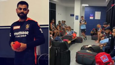 IPL 2021: Virat Kohli and Mike Hesson Address RCB Team After Terrible Defeat Against KKR, Urge Side To Perform Better Against CSK (Watch Video)