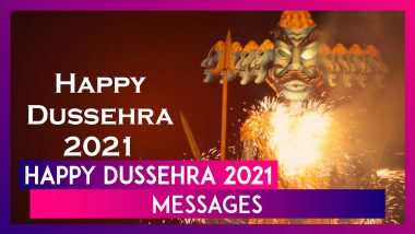 Dussehra 2021 Messages: Celebrate Vijayadashami With WhatsApp Greetings, Wishes, Quotes and Images