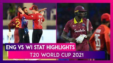 ENG vs WI Stat Highlights T20 World Cup 2021: England Register Impressive Win