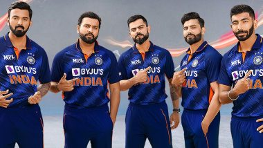 Team India Jersey For T20 World Cup 2021 Unveiled: Take a Look At the Kit Virat Kohli & Co Will Don At WC (See Photo)