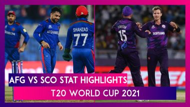 AFG vs SCO Stat Highlights T20 World Cup 2021: Afghanistan Register Thumping Win