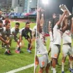 Indian Team Lift SAFF Championship 2021 Trophy and Erupt Into Loud Cheers (Watch Video)
