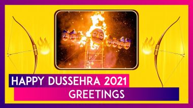 Dussehra 2021 Greetings: WhatsApp Messages, Pics & Wishes To Celebrate Vijayadashami With Loved Ones