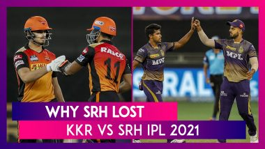 Kolkata Knight Riders vs Sunrisers Hyderabad IPL 2021: 3 Reasons Why SRH Lost