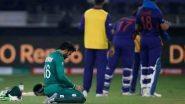 Mohammad Rizwan, Pakistan Wicketkeeper-Batsman, Performs Namaz During Drinks Break of IND vs PAK T20 World Cup 2021 Clash (Watch Video)