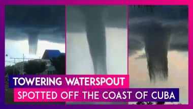 Towering Waterspout Spotted Off The Coast Of Cuba, Know More About This Weather Phenomena