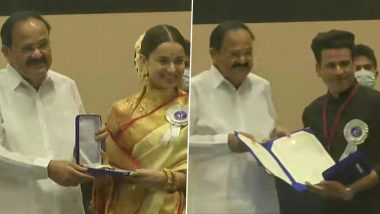 67th National Film Awards: Kangana Ranaut Bags the Best Actress Honour for Fourth Time; Dhanush and Manoj Bajpayee Share Best Actor Award
