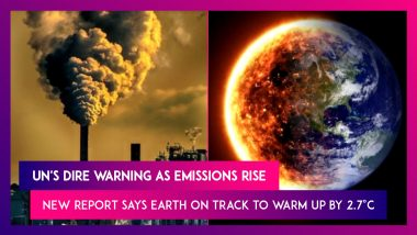 UN's Dire Warning As Emissions Rise, New Report Says Earth On Track To Warm Up By 2.7°C