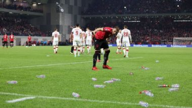FIFA World Cup 2022 Qualifier: Albania-Poland Game Halted After Albanian Fans Threw Water Bottles on Polish Players