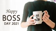 Boss's Day 2021 Wishes & Messages: WhatsApp Status Video, HD Images, GIF Greetings, Facebook Quotes and SMS To Celebrate the Day