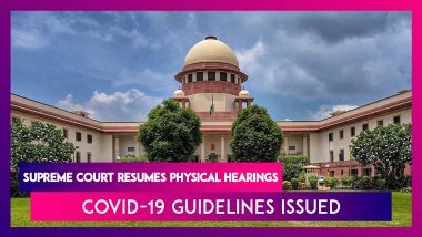Supreme Court Resumes Physical Hearings, Covid-19 Guidelines Issued