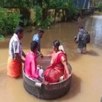 Kerala Rains: Bride and Groom Reach Temple in Cooking Vessel for Marriage in Alappuzha