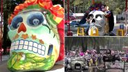 Day of the Dead 2021: Colourful Skulls Inspired by the Mexican Artist Frida Kahlo Adorns the Streets of Mexico City (Watch Video)