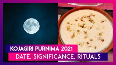 Kojagiri Purnima 2021: Date, Significance, Rituals Associated With Ashwin Month Full Moon