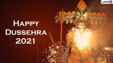 Happy Dussehra 2021 Greetings & HD Images: WhatsApp Stickers, Ram Ravan Antim Yudh GIFs, Messages, Wallpapers and SMS To Send on Vijayadashami