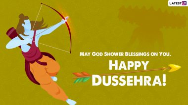 Dussehra 2021 Wishes & Ravan Dahan Photos: WhatsApp Messages, SMS, GIF Images, Greetings, HD Wallpapers and SMS To Celebrate Vijayadashami