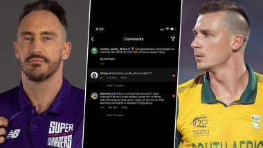 Faf du Plessis, Dale Steyn Lash Out at Cricket South Africa for Ignoring Former Proteas Captain and Imran Tahir in Congratulatory Post After CSK's IPL 2021 Title Win