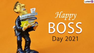 Happy National Boss Day 2021 Wishes, Greetings and HD Images: Send Messages, WhatsApp Stickers, Facebook Photos, GIFs, Telegram Pics and Quotes to Wish Your Boss on This Special Day